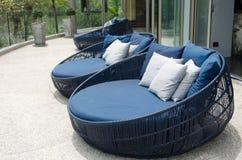 Sofa pillow outdoor Royalty Free Stock Photos