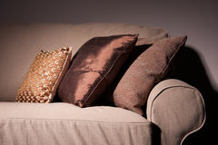 Sofa With Pillows Royalty Free Stock Images