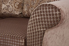 Sofa with pillows close up Royalty Free Stock Photo