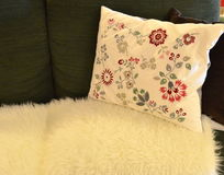 Sofa pillows Stock Photography