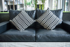 Sofa and pillows in living room Royalty Free Stock Photo
