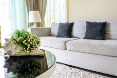 Sofa and pillows Royalty Free Stock Image
