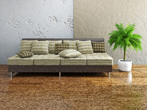Sofa with pillows Royalty Free Stock Image