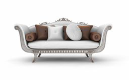 Sofa with pillows. On white background Royalty Free Stock Photo