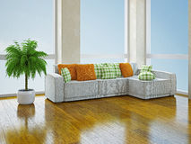 Sofa with pillows Stock Image