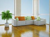 Sofa with pillows Stock Image