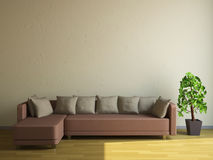 The sofa and the plant Stock Photos