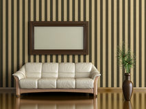 Sofa and plant Stock Images