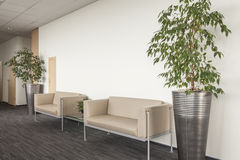 Sofa in reception Stock Image