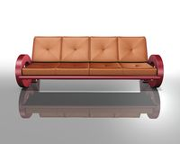 Sofa red and brown Royalty Free Stock Image