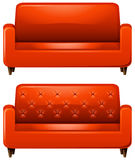 Sofa with red leather Stock Image