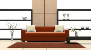 Sofa in the room Stock Images