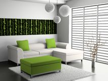 Sofa in the room Royalty Free Stock Image