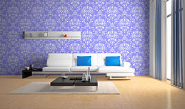 Sofa in the room Royalty Free Stock Images