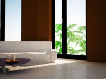 Sofa in the room, 3d Royalty Free Stock Photo