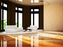 Sofa in the room, 3d Stock Images