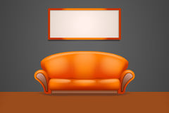 Sofa2 in the room Royalty Free Stock Photo
