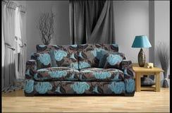 Sofa in Roomset Lizenzfreies Stockfoto