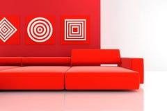 Sofa rouge Photo stock