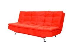 Sofa rouge Photographie stock libre de droits