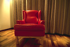 Sofa rouge Images stock