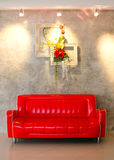 Sofa rouge Photo stock
