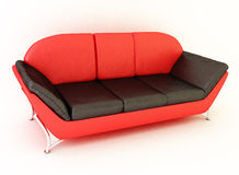 Sofa rouge Image stock
