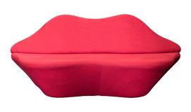 Sofa rouge d'isolement Image stock