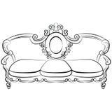 Sofa royal dans le style baroque Images libres de droits
