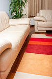 Sofa and rug in living room Royalty Free Stock Photos