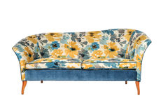 Sofa 2 seater bright antique retro bright pattern material Stock Photography