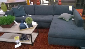 Sofa selling at  furniture store Royalty Free Stock Image