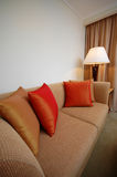 Sofa Set. A sofa with cushion in a room setting royalty free stock images