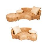 Sofa set. Isolated on white background Stock Images