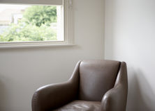 Sofa Set de cuero moderno Fotos de archivo libres de regalías