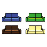 Sofa. A set of different colored sofas Stock Image