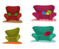 Sofa. Set Vector Illustration Royalty Free Stock Image