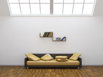 Sofa and a shelf Royalty Free Stock Photo