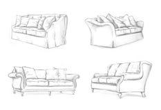 Sofa sketching Stock Photos