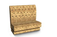 The sofa is soft with a light yellow pattern . 3D rendering. royalty free stock photography