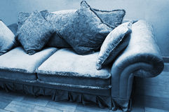 Sofa with soft pillows Stock Photo