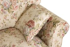 Sofa in style Provence on a white background Stock Photo
