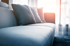 Sofa in sunny day Royalty Free Stock Photography