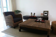 Sofa and table. In living room royalty free stock images