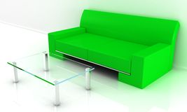 Sofa with table Royalty Free Stock Photography