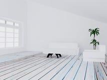 Sofa, table, fauteuil dans la chambre, 3d Photographie stock