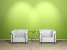 SOFA & TABLE(green). This graphic is a sofa Stock Photos
