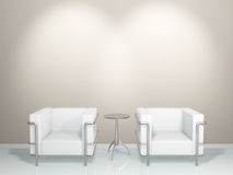 SOFA & TABLE(white). This graphic is a sofa Royalty Free Stock Photos