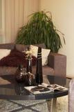 Sofa and tea table. Comfortale sofa and tea table stock photography