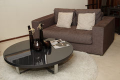 Sofa and tea table. Comfortale sofa and tea table stock image